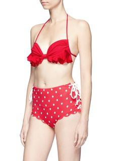 Marysia 'Palm Springs' polka dot high waist bikini bottoms