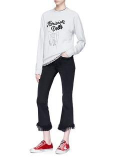 Sandrine Rose 'The Weekend in Parisienne' graphic print sweatshirt