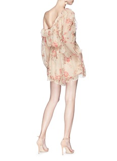 Zimmermann 'Corsair Whimsy' floral print one-shoulder silk romper