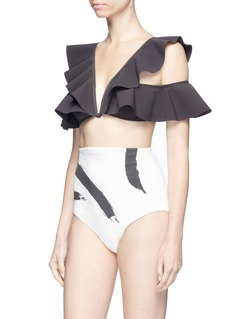 Zimmermann 'Painted Heart Flutter' colourblock bikini set