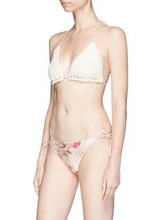 Zimmermann 'Corsair Crochet' floral print bikini set