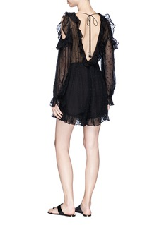 Zimmermann 'Prima Frill' cold shoulder silk romper