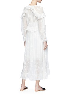 Zimmermann 'Lovelorn' ruffle silk broderie anglaise midi dress