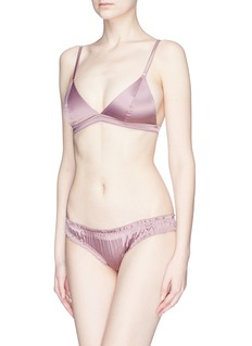 Love Stories 'Lolita' slogan print ruffle edge satin briefs