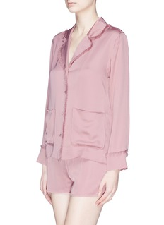 Love Stories 'Bluemoon' frayed satin pyjama shirt