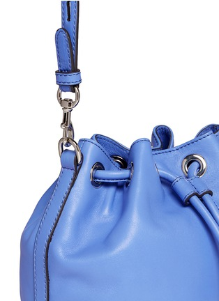 Detail View - Click To Enlarge - Rebecca Minkoff - 'Mini Fiona' leather drawstring bucket bag