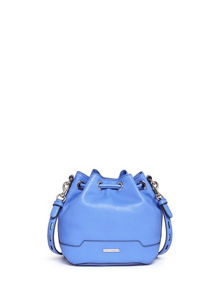 Back View - Click To Enlarge - Rebecca Minkoff - 'Mini Fiona' leather drawstring bucket bag
