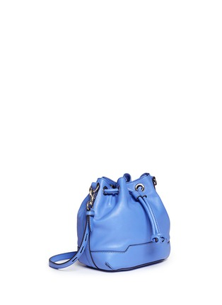 Front View - Click To Enlarge - Rebecca Minkoff - 'Mini Fiona' leather drawstring bucket bag