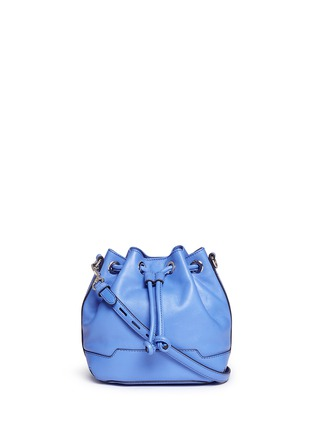 Main View - Click To Enlarge - Rebecca Minkoff - 'Mini Fiona' leather drawstring bucket bag