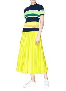ENFÖLD Brushed panel colourblock stripe sweater
