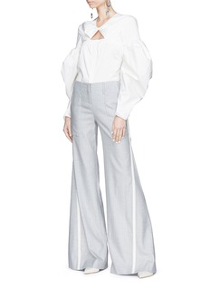 HELLESSY 'Henrik' stripe outseam flared suiting pants