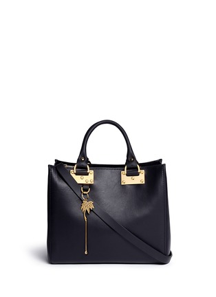 Main View - Click To Enlarge - Sophie Hulme - 'Mini Beaumont' adjustable leather tote