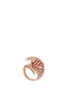 COIN ROBERTO S.R.L. 'Animalier' diamond gemstone 18k gold armadillo ring