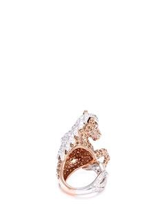 COIN ROBERTO S.R.L. 'Animalier' diamond sapphire 18k white gold horse ring