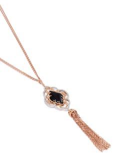 Roberto Coin 'Barocco' diamond jade tassel pendant necklace