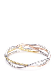 Lazare Kaplan 'The RollerGlam' diamond 18k white gold bangle