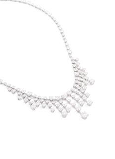 Lazare Kaplan 'Pullegia' diamond 18k white gold pendant necklace