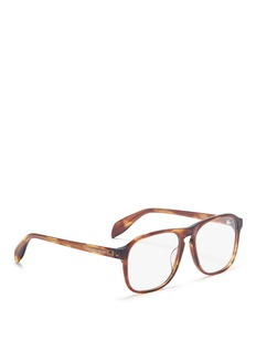 Alexander McQueen Stud tortoiseshell acetate square optical glasses