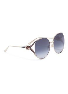 Gucci 'GG' logo metal round sunglasses