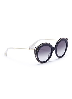 Gucci Jewelled acetate cat eye sunglasses