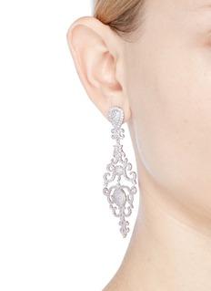 CZ by Kenneth Jay Lane 'Vintage' cubic zirconia chandelier earrings