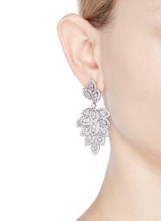 CZ by Kenneth Jay Lane 'Foliate' cubic zirconia drop earrings