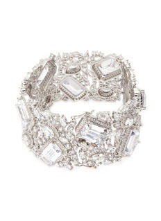 CZ by Kenneth Jay Lane Cubic zirconia openwork bracelet