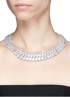 CZ by Kenneth Jay Lane Cubic zirconia three row necklace