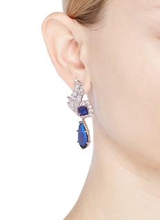 CZ by Kenneth Jay Lane 'Foliate' cubic zirconia pear drop earrings