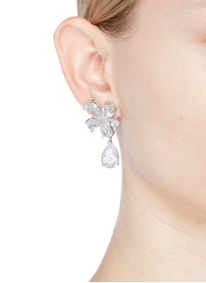 CZ by Kenneth Jay Lane Floral cubic zirconia drop earrings
