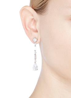 CZ by Kenneth Jay Lane Cubic zirconia link drop earrings