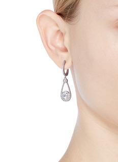 CZ by Kenneth Jay Lane Cubic zirconia halo teardrop earrings