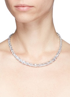 CZ by Kenneth Jay Lane Cubic zirconia tennis necklace