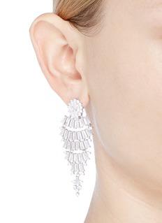 CZ by Kenneth Jay Lane 'Graduate Fan' cubic zirconia drop earrings