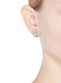 CZ by Kenneth Jay Lane Cubic zirconia stud clip earrings