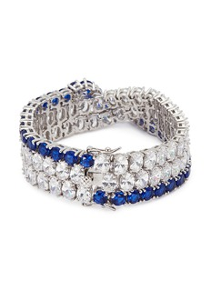 CZ by Kenneth Jay Lane Cubic zirconia crossover link bracelet