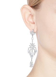 CZ by Kenneth Jay Lane Floral cubic zirconia chandelier earrings