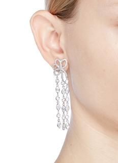 CZ by Kenneth Jay Lane Bow fringe drop earrings