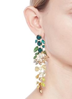 Jardin Ombré strass geometric drop earrings