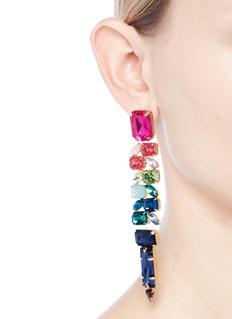 Jardin Strass link statement earrings