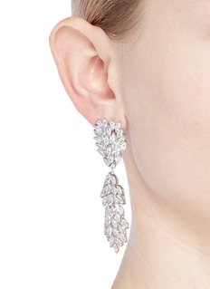 CZ by Kenneth Jay Lane Cubic zirconia marquise link drop earrings