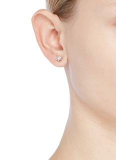 CZ by Kenneth Jay Lane Cubic zirconia mini star stud earrings