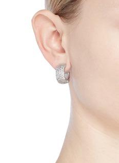 CZ by Kenneth Jay Lane 'Half Moon' cubic zirconia hoop earrings