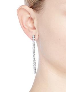 CZ by Kenneth Jay Lane Cubic zirconia linear drop earrings