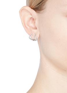CZ by Kenneth Jay Lane Cubic zirconia claw earrings