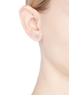 CZ by Kenneth Jay Lane Cubic zirconia lightning bolt earrings