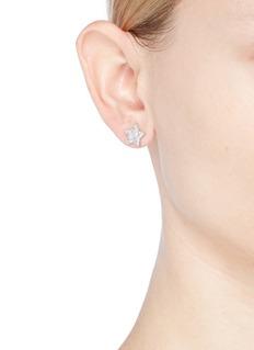 CZ by Kenneth Jay Lane Cubic zirconia star stud earrings