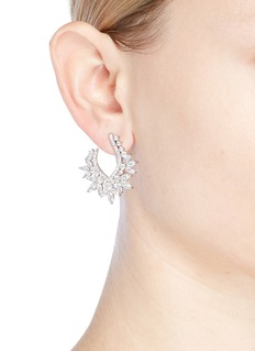 CZ by Kenneth Jay Lane Cubic zirconia marquise hoop earrings