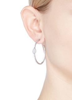 CZ by Kenneth Jay Lane Pear shape cubic zirconia hoop earrings