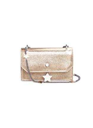 Main View - Click To Enlarge - Jimmy Choo - 'Selena Gle' metallic leather crossbody bag